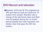 emi marconi and television