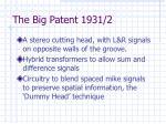 the big patent 1931 2