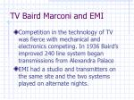tv baird marconi and emi