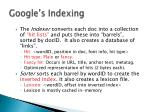 google s indexing