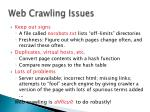 web crawling issues