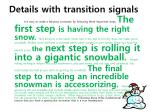 details with transition signals
