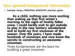 give general background information2