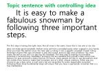 topic sentence with controlling idea