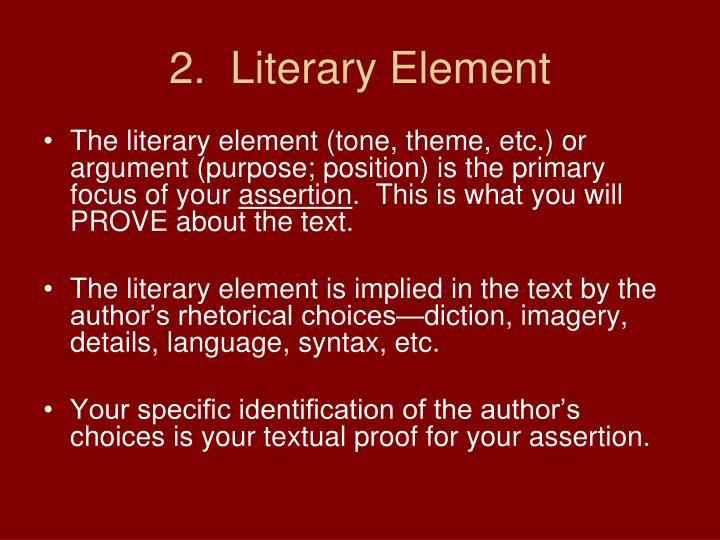 2.  Literary Element