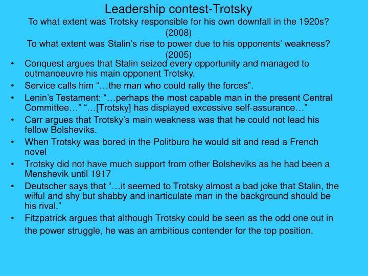 Leadership contest-Trotsky