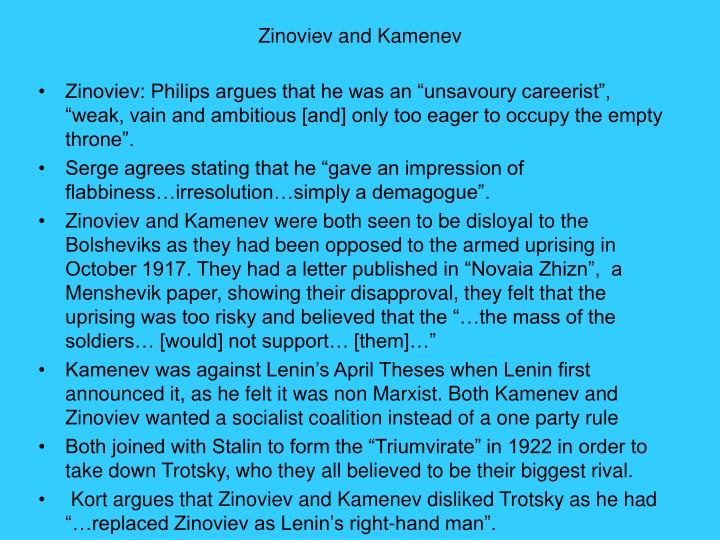 Zinoviev and Kamenev
