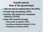 overall picture role of the government