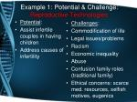 example 1 potential challenge reproductive technologies