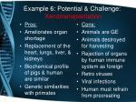 example 6 potential challenge xenotransplantation