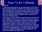 rule 7 3 art 1 effects