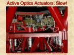 active optics actuators slow