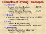 examples of orbiting telescopes