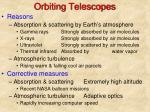 orbiting telescopes