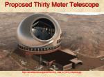 proposed thirty meter telescope