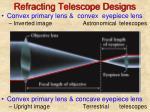 refracting telescope designs