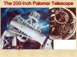 the 200 inch palomar telescope