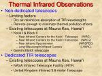 thermal infrared observations