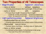 two properties of all telescopes