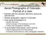 aerial photographs of colorado portrait of a user