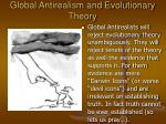 global antirealism and evolutionary theory