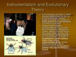 instrumentalism and evolutionary theory