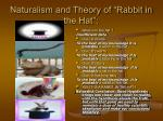naturalism and theory of rabbit in the hat