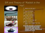 sr and theory of rabbit in the hat