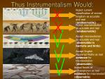 thus instrumentalism would