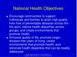 national health objectives