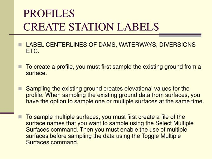 profiles create station labels n.