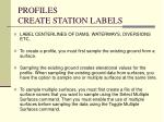 profiles create station labels