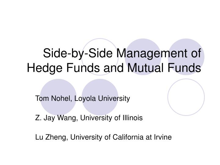 side by side management of hedge funds and mutual funds n.
