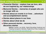 kinds of digital stories