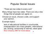 popular social issues