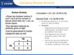 calculating boolean similarity