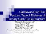 cardiovascular risk factors type 2 diabetes primary care clinic structure