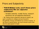 priors and subjectivity