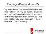 findings preparation 2