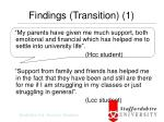 findings transition 1