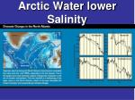 arctic water lower salinity