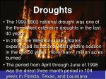 droughts