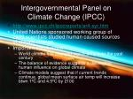 intergovernmental panel on climate change ipcc