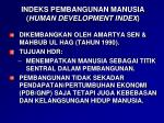 indeks pembangunan manusia human development index