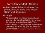 form embedded allusion