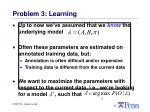 problem 3 learning