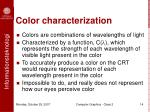color characterization