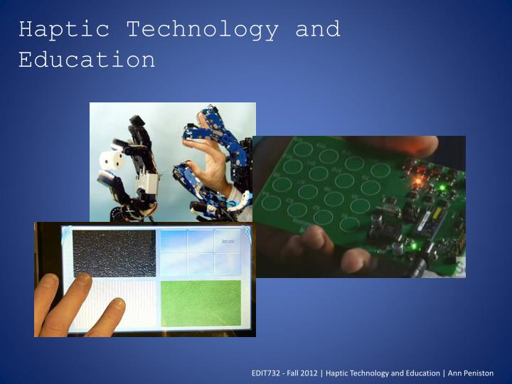 haptic technology and education n.