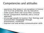 competencies and attitudes