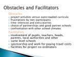 obstacles and facilitators